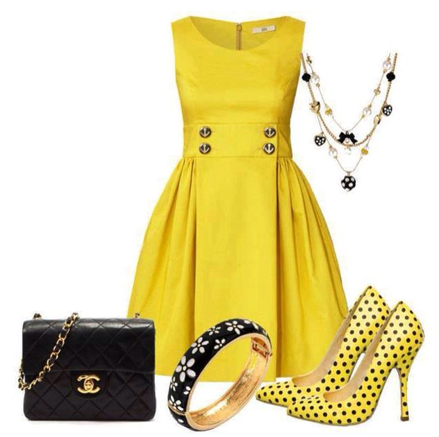 How To Accessorize A Yellow Dress What Shoes And Jewelry