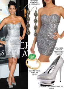 What shoes and jewelry to wear with silver dress